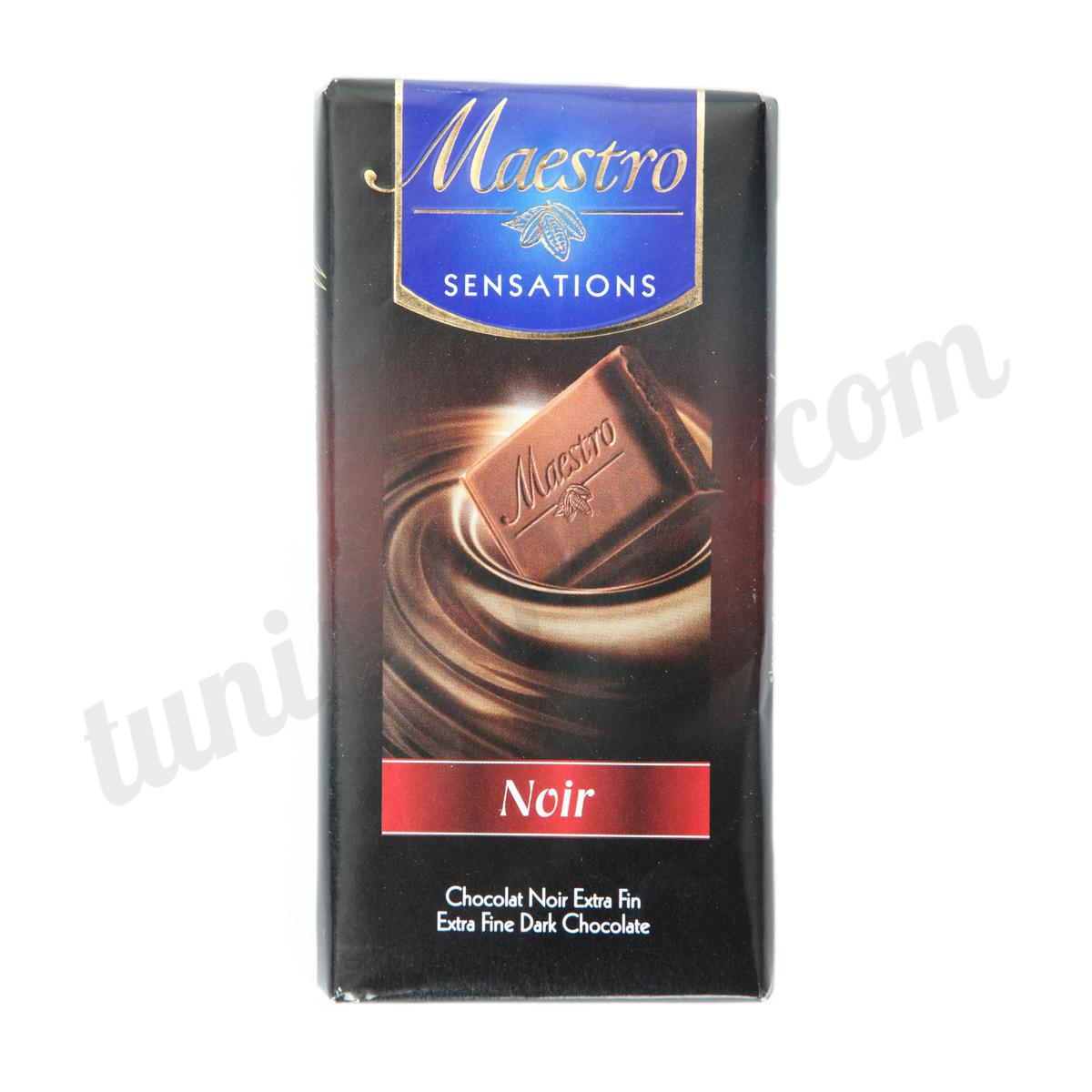 chocolat extra fin noir maestro 90g tunisie. Black Bedroom Furniture Sets. Home Design Ideas