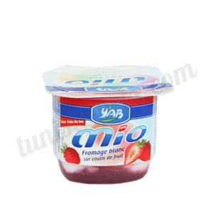 Fromage blanc fraise Mio Y'AB 100g