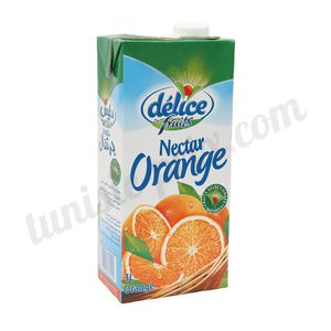 Jus nectar orange Délice 1L