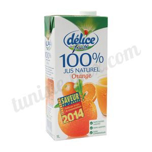 Jus naturel 100% orange Délice 1L