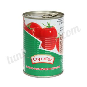 Double concentré de tomates Cap d'or 400g