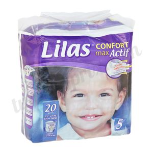 Couche Lilas Confort taille 5 (15-25kg)