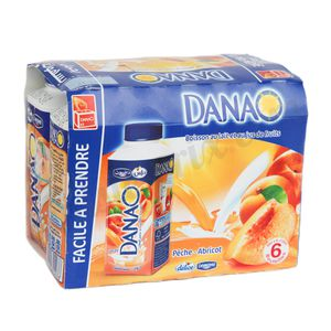 Pack 6 Danao pêche-abricot 20cl