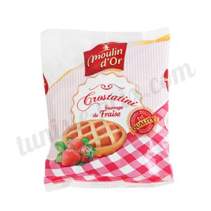 Crostatini fraise Moulin d'Or 65g