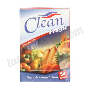 Sacs de congelation Clean Fresh 50 sachets